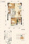 泽科弹子石中心2室2厅1卫53平方米户型图