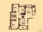无锡恒大城3室2厅2卫132平方米户型图