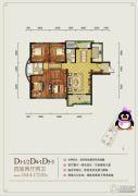 月湖琴声4室2厅2卫164--172平方米户型图