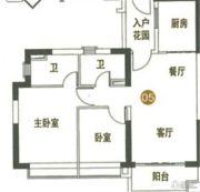 海陵岛恒大御景湾2室2厅2卫96平方米户型图