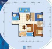 乐尚城3室2厅1卫109平方米户型图