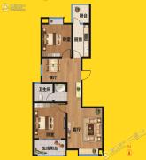 尚景园2室2厅1卫101平方米户型图