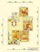 华润幸福里3室2厅1卫110平方米户型图