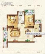 重邦康城2室2厅1卫99平方米户型图