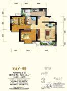 锦丽花语2室2厅1卫85平方米户型图