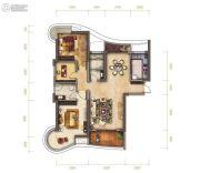 南昌铜锣湾广场3室2厅2卫116平方米户型图