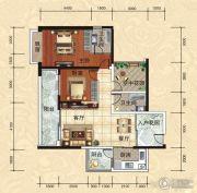 天湖御林湾2室2厅2卫99平方米户型图