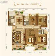 中建・宜昌之星4室2厅2卫142平方米户型图