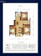 碧秀名庭3室2厅1卫88平方米户型图