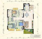 万豪・公园里3室2厅2卫119平方米户型图