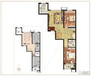 麒融国际2室2厅1卫113平方米户型图