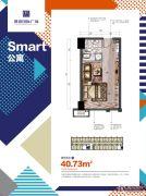 愿景国际广场1室0厅1卫40平方米户型图