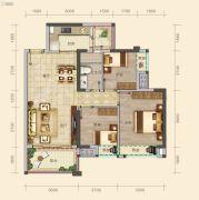 南山壹号3室2厅1卫88平方米户型图