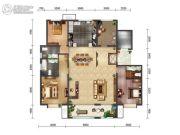绿地・海珀天沅3室2厅3卫190平方米户型图