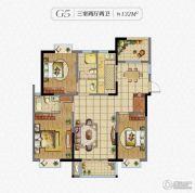秀逸苏杭3室2厅2卫132平方米户型图