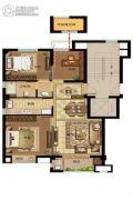 鸿�Z园3室2厅2卫89平方米户型图