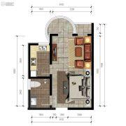 香庭海岸1室1厅1卫0平方米户型图