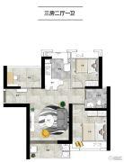 明发・香山湾2室2厅1卫0平方米户型图