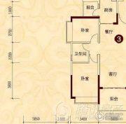 贵阳恒大城2室2厅1卫0平方米户型图