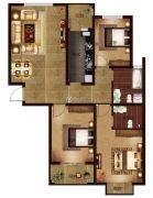帕堤欧3室2厅2卫133平方米户型图