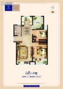 卓悦城・北京未3室2厅1卫95平方米户型图