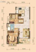 北海恒大雅苑2室2厅1卫72--74平方米户型图
