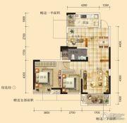 恒信・中央公园2室2厅1卫89平方米户型图