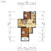 步阳江南甲第2室2厅1卫84平方米户型图