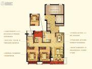 宁波新城吾悦广场3室2厅1卫95平方米户型图
