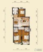 山水华庭3室2厅2卫110平方米户型图