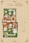 恒开滨河城3室2厅2卫133平方米户型图