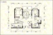恒大名城3室2厅2卫106平方米户型图