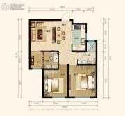 兰田传奇2室2厅1卫86平方米户型图