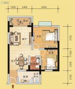 翰林国际3室2厅1卫81平方米户型图