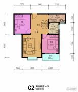 同美生活区2室2厅1卫86平方米户型图