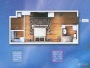 宝龙城市广场1室1厅1卫48平方米户型图