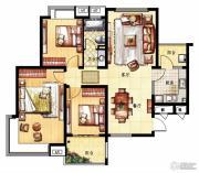 凤凰花园3室2厅1卫123平方米户型图