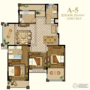 恒辉假日广场3室2厅2卫141平方米户型图