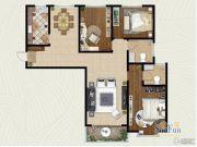 翡翠�m亭3室2厅2卫136平方米户型图