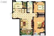 家天下2室2厅1卫105平方米户型图