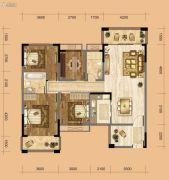 中南一号院3室2厅2卫125平方米户型图