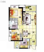越秀保利爱特城2室2厅1卫72平方米户型图