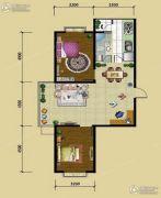 圣泰雅园2室2厅1卫86平方米户型图