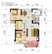 凯旋名门3室2厅1卫95平方米户型图