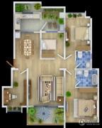万辉星城3室2厅2卫0平方米户型图