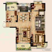 碧桂园城市花园3室2厅2卫124--126平方米户型图