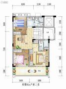 金地风华3室2厅2卫0平方米户型图