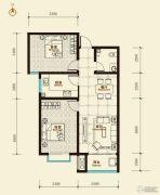 鑫界9号院2室2厅1卫92平方米户型图