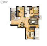 万科城3室2厅1卫90平方米户型图