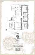 华远海蓝城3室2厅2卫142平方米户型图